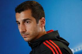 Henrikh Mkhitaryan (above) could link up with former Borussia Dortmund teammate Pierre-Emerick Aubameyang at Arsenal, although Arsene Wenger has declined to comment on reports that Arsenal have made a bid for the Gabon international.