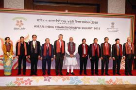 Asean leaders at the Asean-India Commemorative Summit in New Delhi.