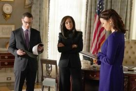 Political soap Scandal, which stars Kerry Washington (centre), ends on April 19.