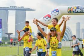 Participants having fun at the Pokemon Run Carnival last Saturday.