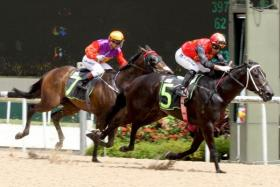 Nowyousee led all the way in the $80,000 RDA Cup over the Polytrack 1,100m in Race 4 at Kranji yesterday.