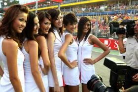 Grid girls have been a staple at F1 races.