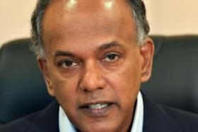 """Judges should not be personally attacked, their integrity impugned, just because people do not agree with their decision."" — Minister for Home Affairs and Law K. Shanmugam (above)"