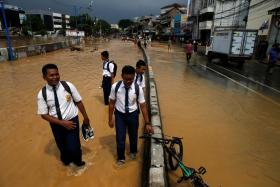 About 6,500 people have been displaced in parts of south and east Jakarta.