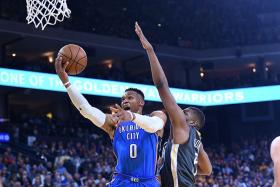 Thunder tear apart reigning NBA champions Warriors