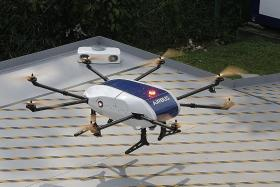 In inaugural flight, drone demonstrates parcel delivery
