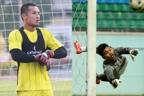 Hassan Sunny (left) and Izwan Mahbud (right) are hoping to help their respective clubs Army United and Nongbua Pitchaya achieve success in the Thai League 2  this season.