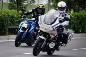 No 'Sunday ride' for these uniformed bikers