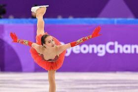 World at 15-year-old skating star Zagitova's feet