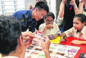 Students learn about Total Defence through GOTC card game