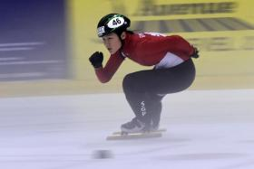 Singapore's short-track speed skater Cheyenne Goh will be making her Winter Olympics debut on Saturday.