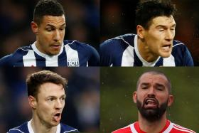 (Clockwise from top left) Jake Livermore, Gareth Barry, Boaz Myhill and Jonny Evans issued a joint statement to apologise for breaking team curfew.