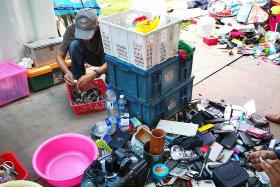 Valuable, useful items among discarded things left for waste removers