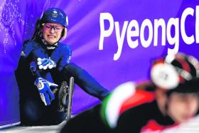 British speed skater Christie's Olympic curse strikes again