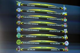 The full last-16 draw for the Europa League.