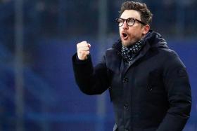 Roma's head coach Eusebio Di Francesco.