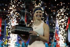Elina Svitolina becomes only the third woman to retain the Dubai Championship after Justine Henin and Venus Williams.