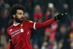 Liverpool's Mohamed Salah has scored for the seventh straight game.
