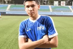 Singapore teen Ben Davis, 17, has been a trainee with Fulham academy since last year.