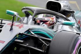 Lewis Hamilton's pole-position finish on Saturday was his record seventh at Albert Park, and also a Formula One record 73rd of the four-time world champion's career.