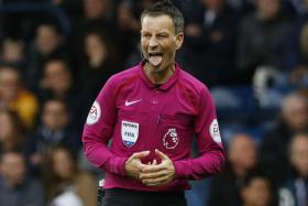 Mark Clattenburg, seen here during his last EPL game in April 2017, was included in a pre-selected group of officials two years ago, but is now officiating in Saudi Arabia.