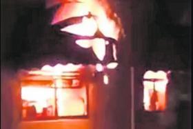 Fire engulfs Bishan coffeeshop in midnight blaze