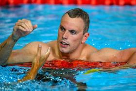 Australia's Kyle Chalmers after winning the men's 200m freestyle final