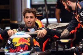Daniel Ricciardo (above) lapped the 5.4km Sakhir circuit with a best time of 1min 31.060secs, 0.304s clear of Mercedes' Valtteri Bottas.