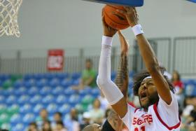 The Slingers' Christien Charles performed well in the 85-82 defeat by Mono Vampire on Friday.