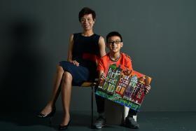 Dyslexic S'pore boy, 10, paints bigger picture of Irlen syndrome