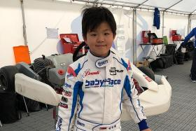 Young racer Christian in the footsteps of Schooling
