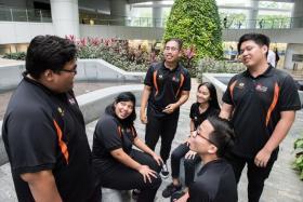 (Left to right) ITE College Central students Muhammad Nur'Fauzan Mohamed, Siti Nur'Ain Jumaat, Muhammad Zulfiqar Rosli, Raden Afiq Raden Amran, Nurul Hazirah Osman and Muhammad Aqil Azmi.
