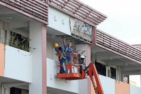 Collapsed false ceiling leaves Toa Payoh residents worried