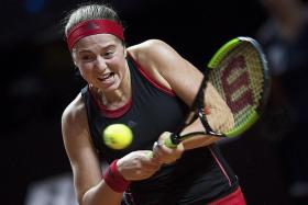 French Open champ Ostapenko takes winning step on clay