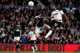 Derby County's Cameron Jerome scoring their winner over Fulham.