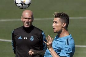 Cristiano Ronaldo lives for the big stage, says his coach Zinedine Zidane.