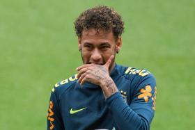 Neymar has not played an official match since February.
