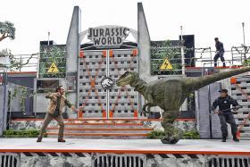 Dinosaurs take over Universal Studios Singapore