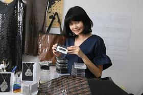 She weaves art out of old cassette tapes
