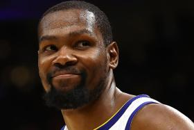 Amazing Durant's 43 points help Warriors to the brink of Finals sweep