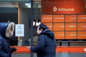 Cryptocurrencies tumble after S. Korea hack