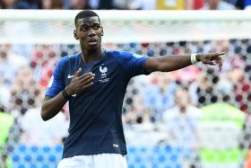 Paul Pogba celebrates after his goal was awarded, thanks to help from goal-line technology.