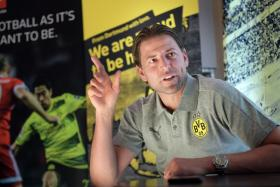 Roman Weidenfeller, who recently retired from Borussia Dortmund, is in Singapore on a promotional trip for the Bundesliga.