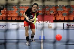 Floorballer Yeap makes the big leap