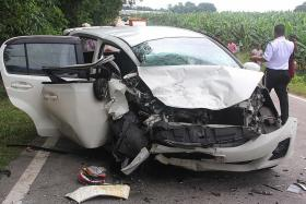 Couple dead, two children injured in accident in Johor
