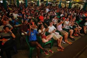 Fans flock to free live World Cup screenings across Singapore