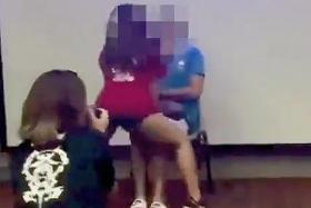 Student caught giving  lap dance at Ngee Ann Poly camp