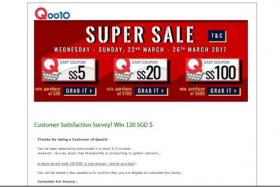 Qoo10 warns of scam e-mails