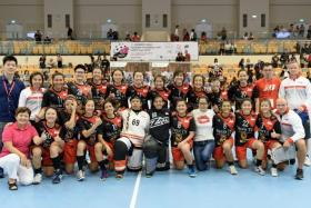 The Singapore women's floorball team (above) will be playing against Thailand in the Asia-Oceania Floorball Cup final at 6pm at Our Tampines Hub on Saturday. Admission is free.