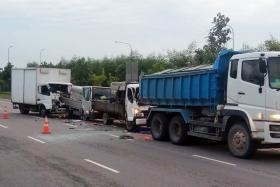 Man who stopped to help broken-down truck killed in chain collision